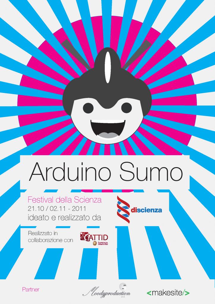 Locandina del laboratorio di robotica ArduSumo